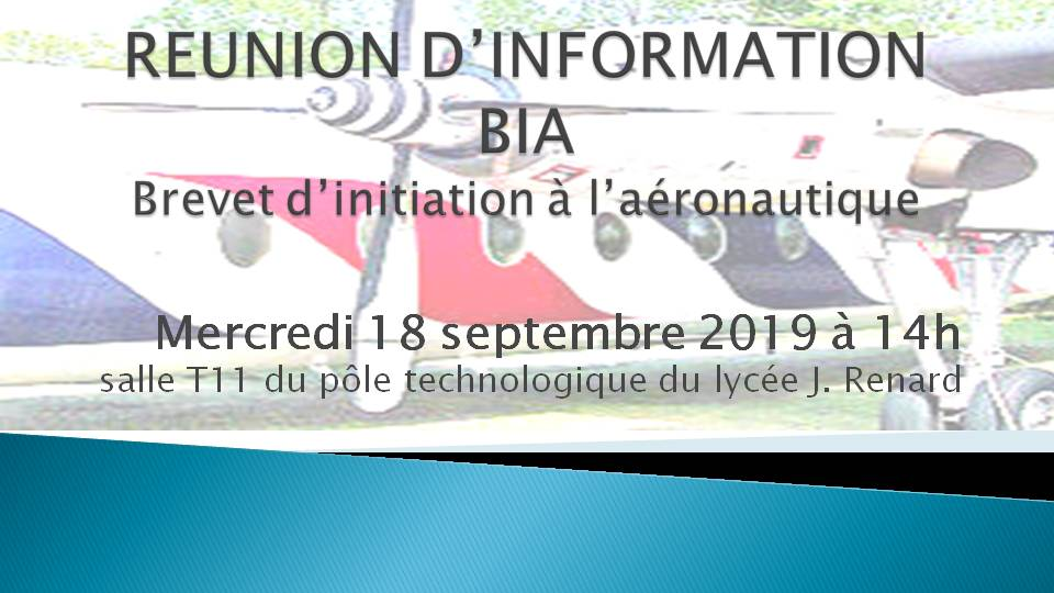 2019 09 18 REUNION DINFORMATION BIA